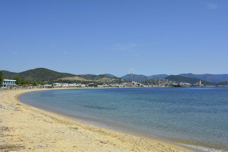 Greece, Eastmacedonia, Kavala. Greece, Kavala, beach in Nea Peramos royalty free stock image