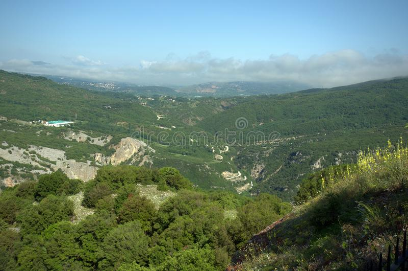 Greece, Epirus, landscape in Arachthos National Park. Near Ioannina royalty free stock images