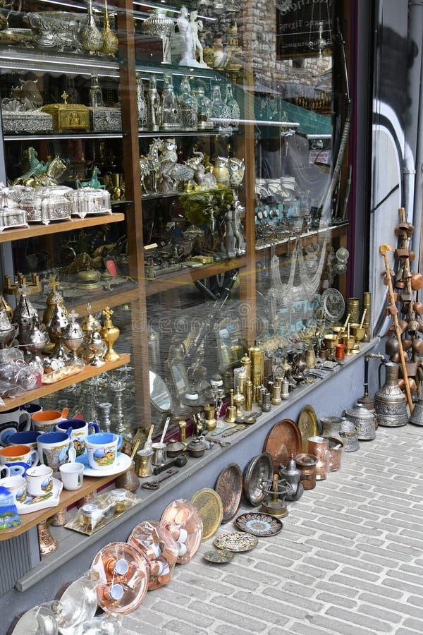 Greece, Souvenir Shop. In pedestrian zone of Ioannina stock photography