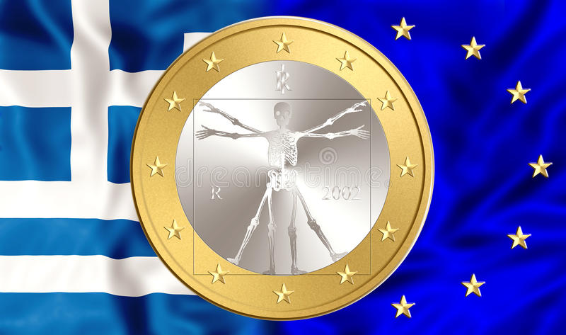 Greece and Euro royalty free illustration