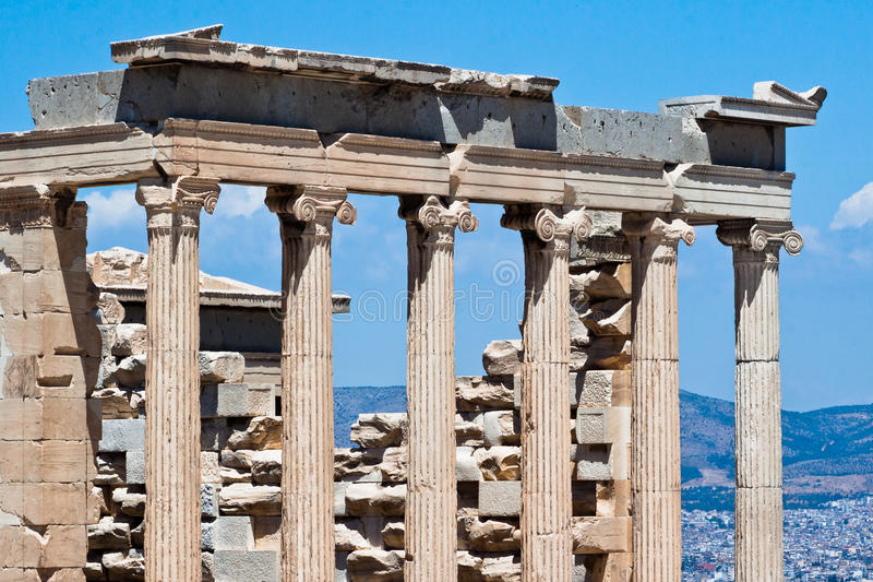greece för acropolisathens erechteion tempel royaltyfri fotografi