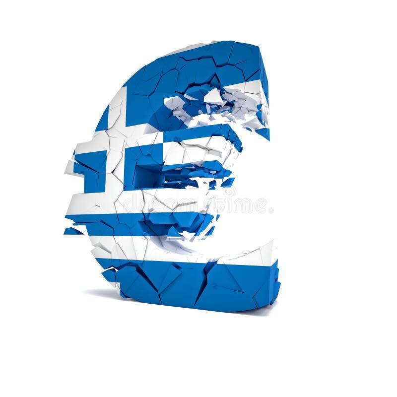 Greece fail royalty free illustration