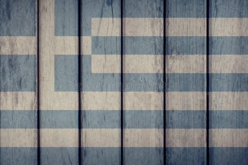 Greece Flag Wooden Fence. Greece Politics News Concept: Greek Flag Wooden Fence royalty free illustration