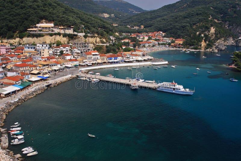 greece hamnparga royaltyfria foton