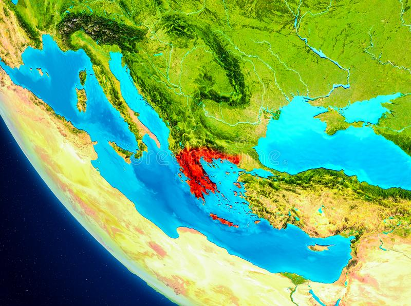 Greece on globe from space stock illustration illustration of download greece on globe from space stock illustration illustration of illustration 105896013 gumiabroncs Choice Image