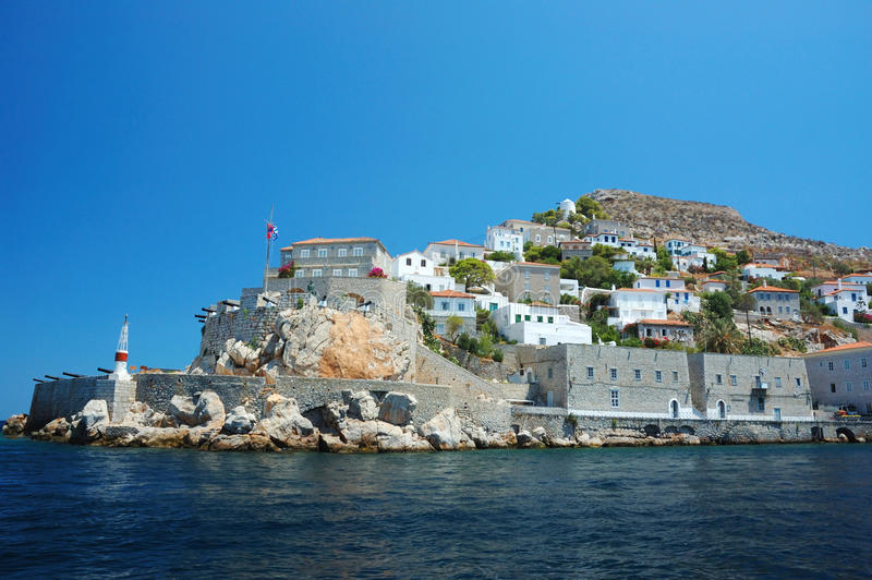 greece hydry wyspa saronic obraz stock