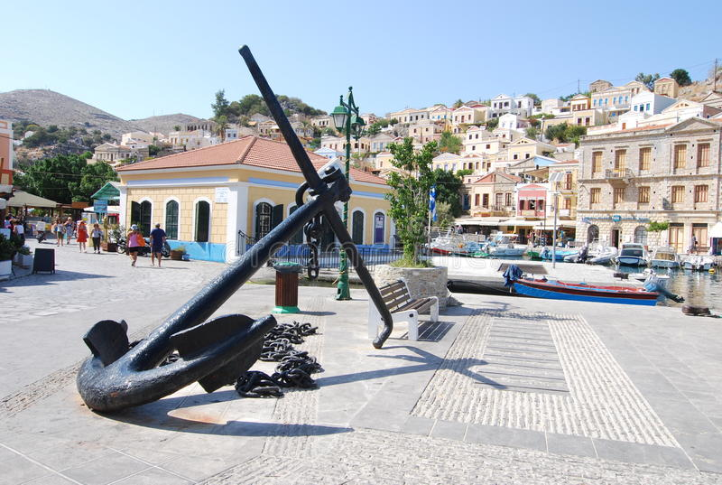 Greece.The Insel von Symi. stockfoto