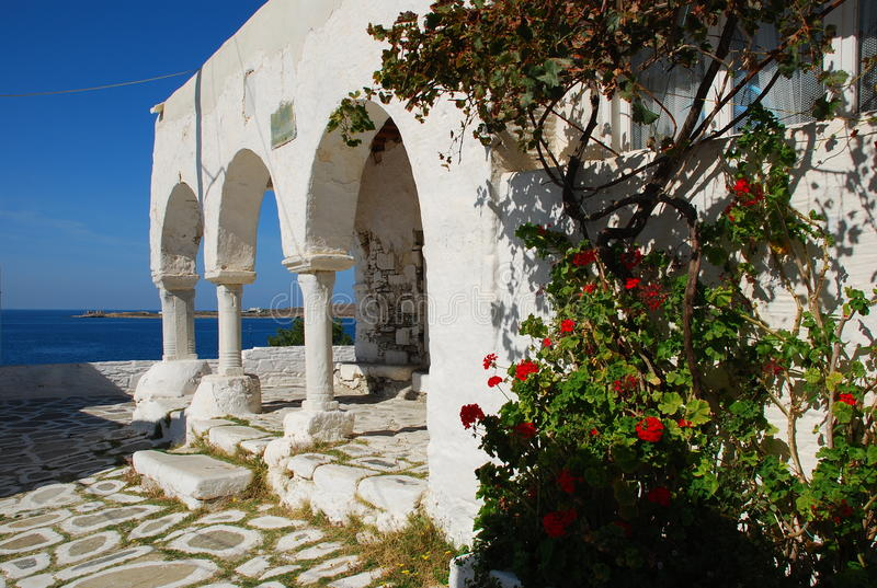 Island of Paros, arched passageway, Greece. royalty free stock photography