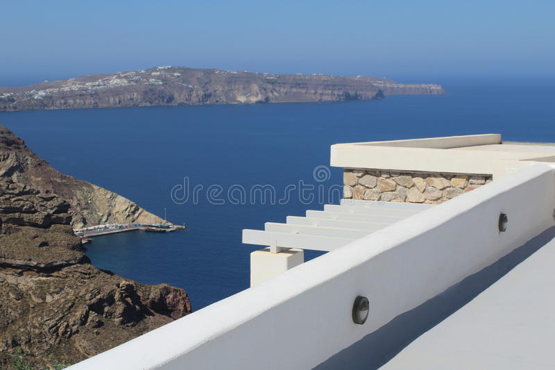 Greece island Santorini stock image
