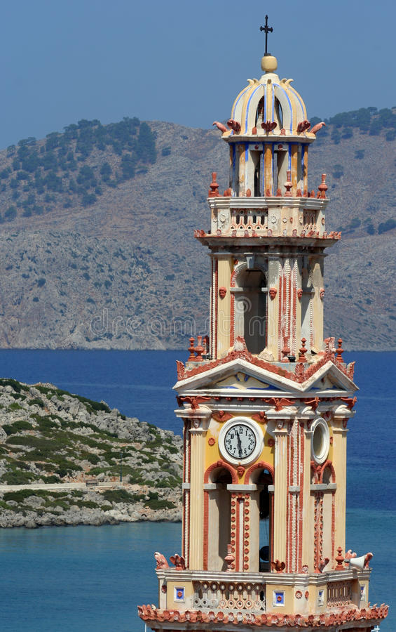 greece klosterpanormitis fotografering för bildbyråer