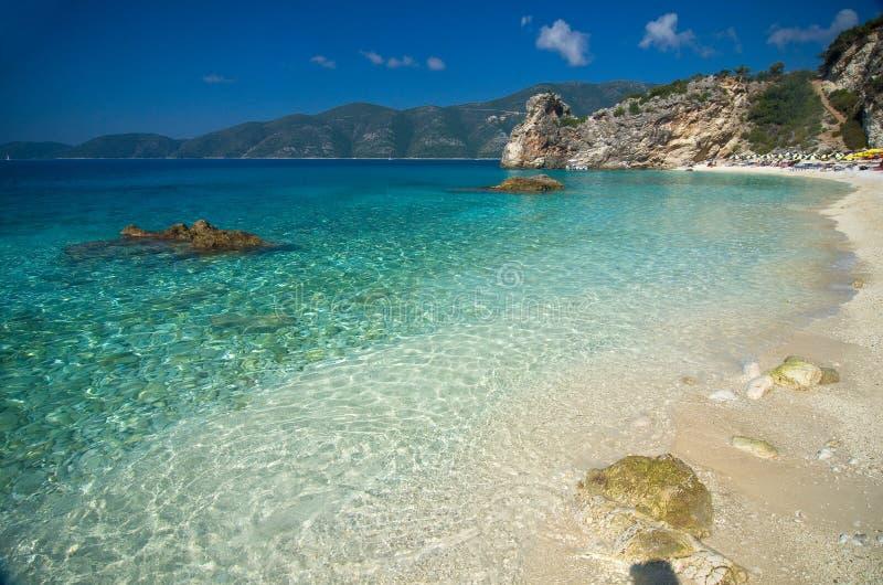 Greece - Lefkada - Agiofili beach stock images