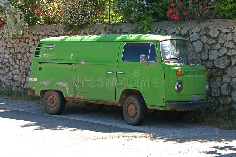 Greece Lefkada clasic car royalty free stock image