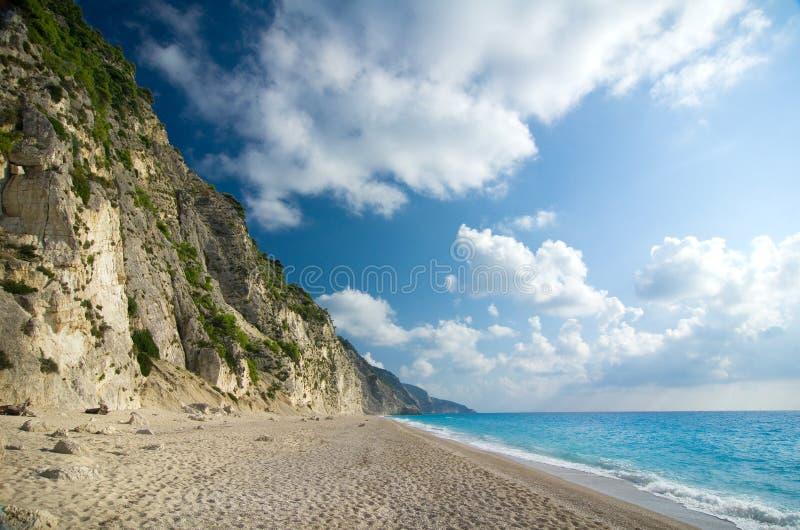 Greece - Lefkada - Egremni beach royalty free stock images
