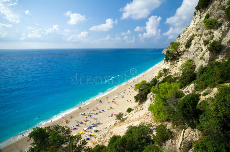 Greece - Lefkada - Egremni beach royalty free stock photo