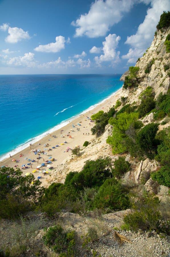 Greece - Lefkada - Egremni beach stock photography