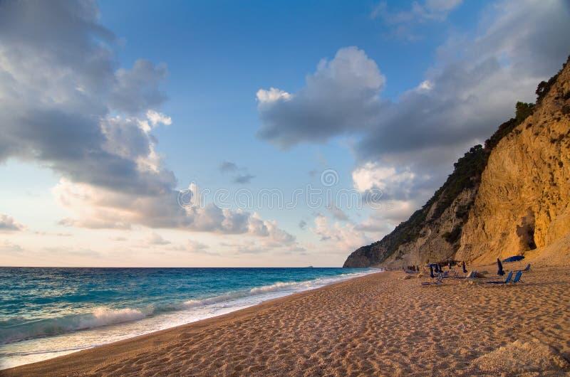 Greece - Lefkada - Egremni beach stock images