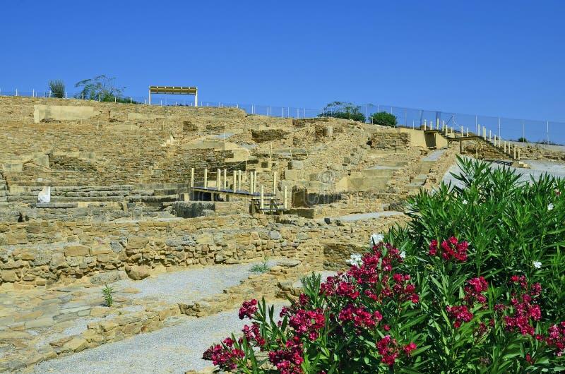 Greece_Lemnoseiland, Hephaista royalty-vrije stock foto