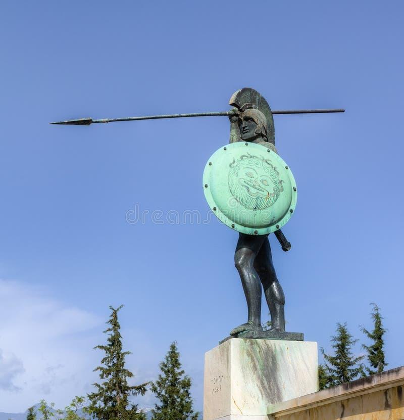 greece Leonidas statuy thermopylae obraz royalty free