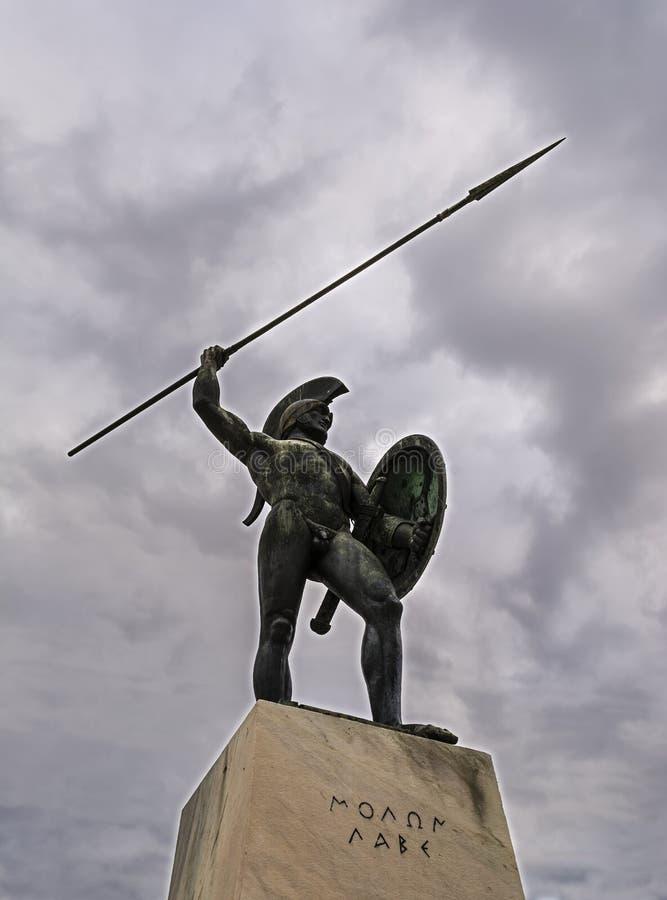 greece Leonidas zabytku thermopylae zdjęcie royalty free