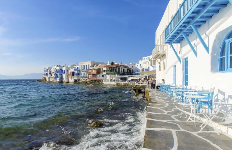 greece lilla mykonos venice royaltyfri fotografi