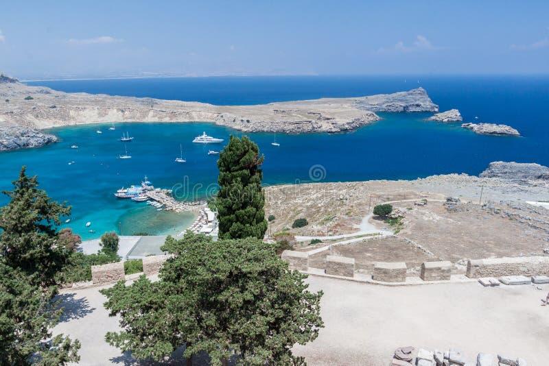 greece lindos rhodes royaltyfri foto