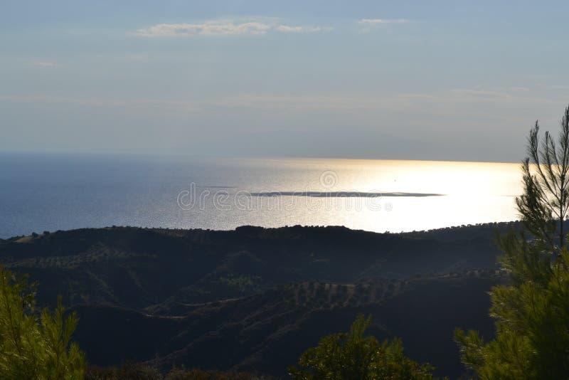 Greece love sea stock photography