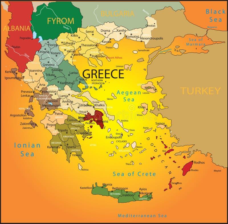 Greece map stock vector Illustration of atlas transition 14390140