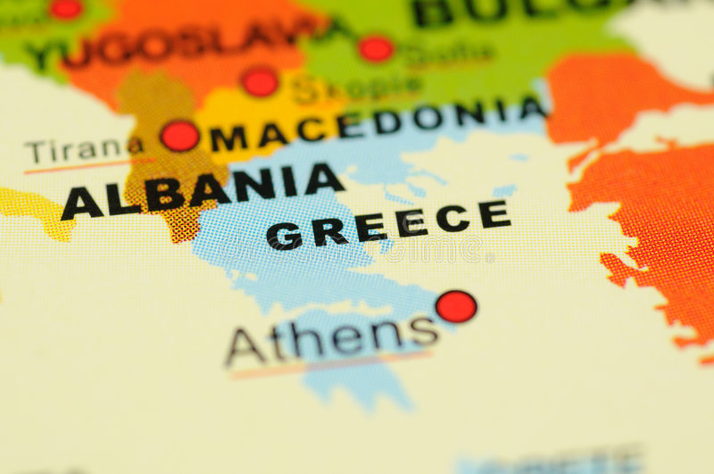 Download Greece On Map Stock Image - Image: 6838511