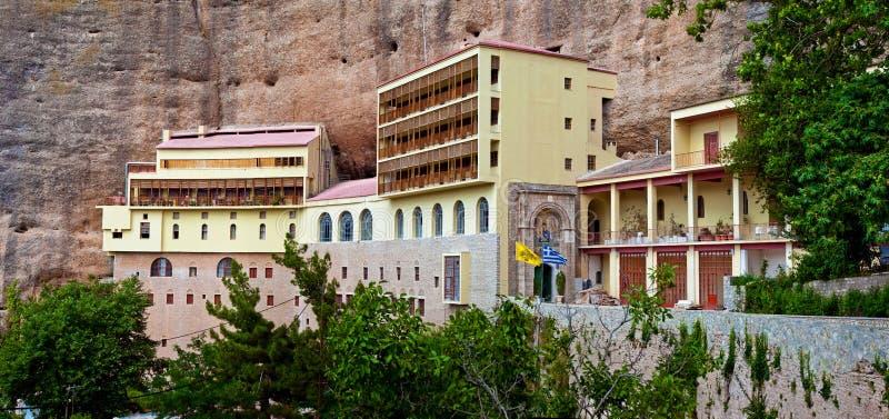greece mega klosterspilaio royaltyfria foton