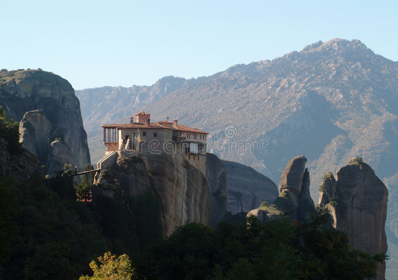 greece meteora monaster obrazy royalty free