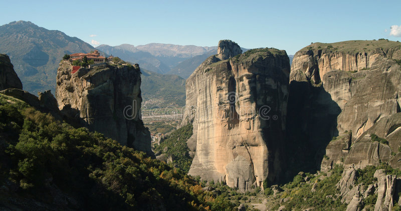 greece meteora monaster obrazy stock