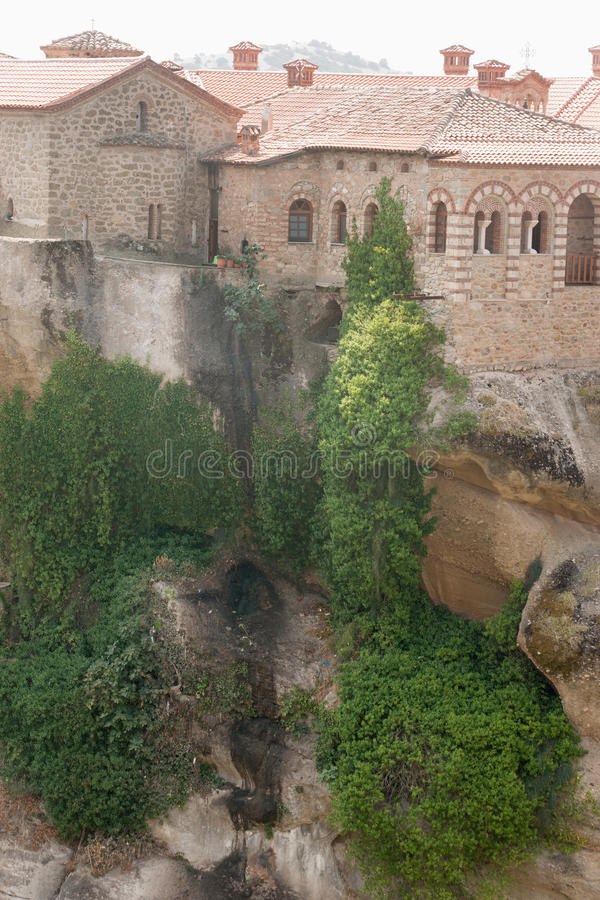 Greece. Meteora. Rocks and plants stock photo