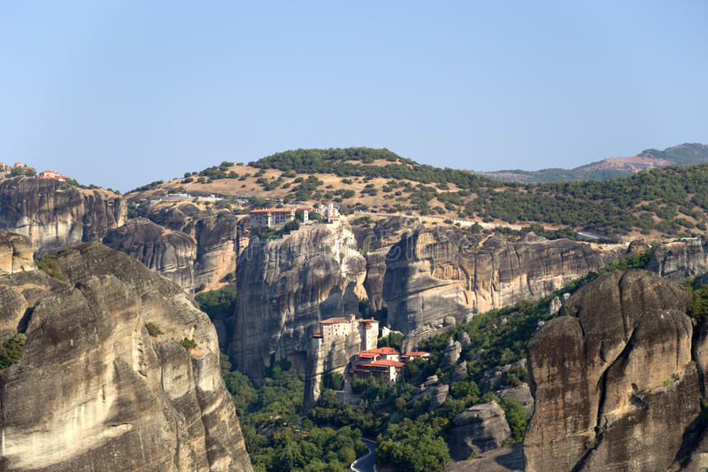 Greece. Monasterys of Meteora stock images