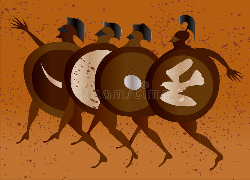 Download Greece mural painting, stock vector. Illustration of greece - 9655669