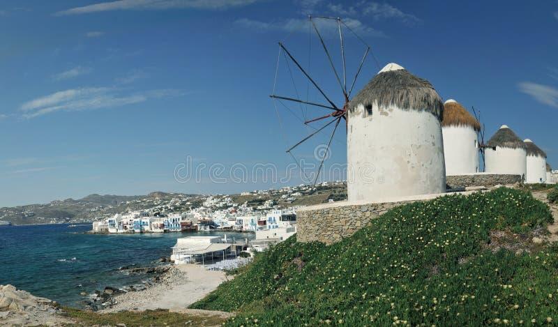 greece mykonossikt royaltyfri bild