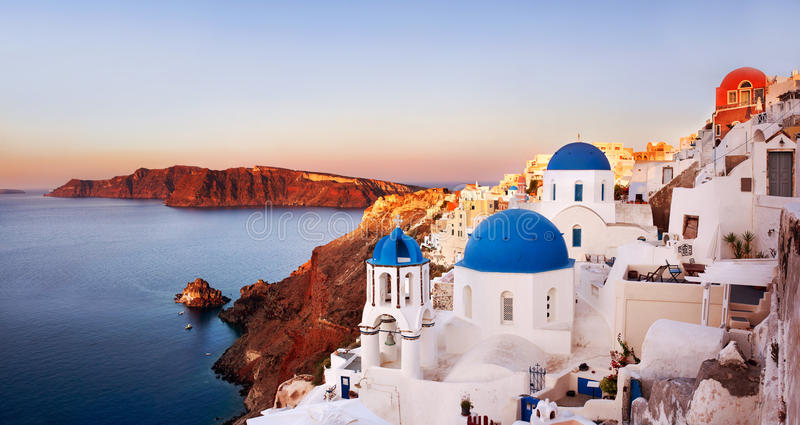 greece oia santorini royaltyfria bilder