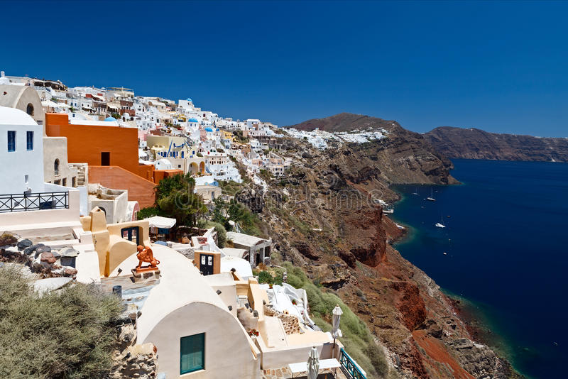 Greece, Opiniões De Santorini Fotos de Stock Royalty Free
