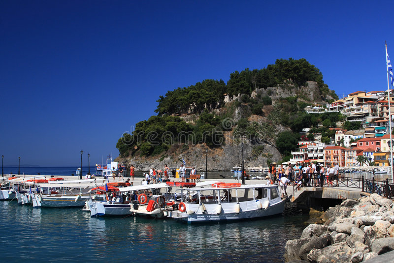 greece parga royaltyfri fotografi