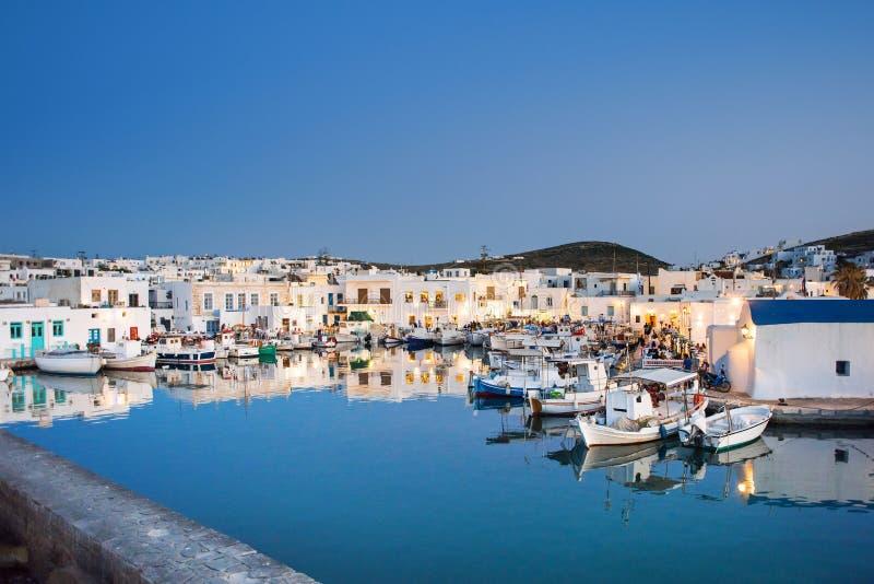 Greece, Paros island, Naoussa, Greek fishing village. Popular tourist destination in Europe. Greece, Paros island, Naoussa, Greek fishing village beautiful stock photography