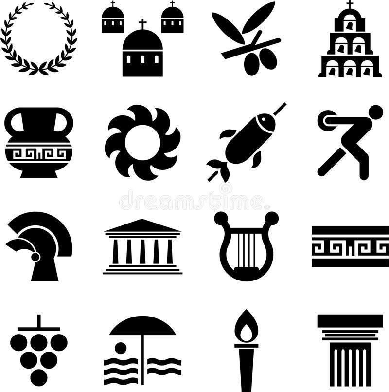 Download Greece pictograms stock vector. Illustration of athens - 23129797