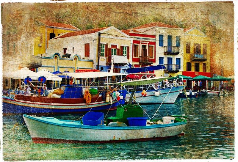 greece pictorial ilustracja wektor