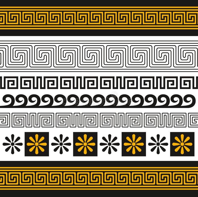 greece prydnad stock illustrationer