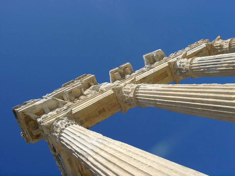 Greece ruins corner royalty free stock photo