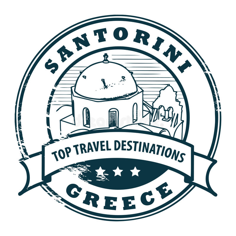 greece santorini ilustracji