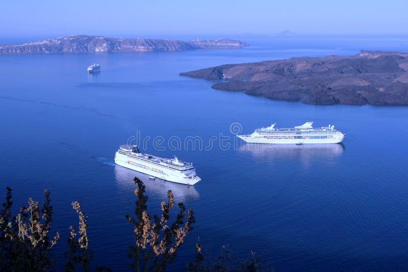greece santorinisoluppgång royaltyfri fotografi
