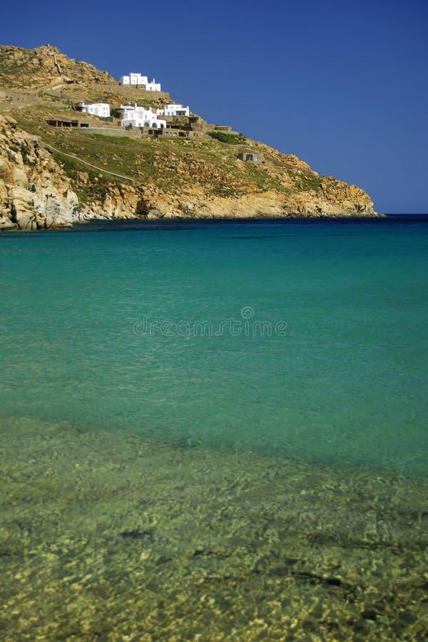 Greece sea landscape. Greece.Mykonos. Mangnificent sea landscape stock image