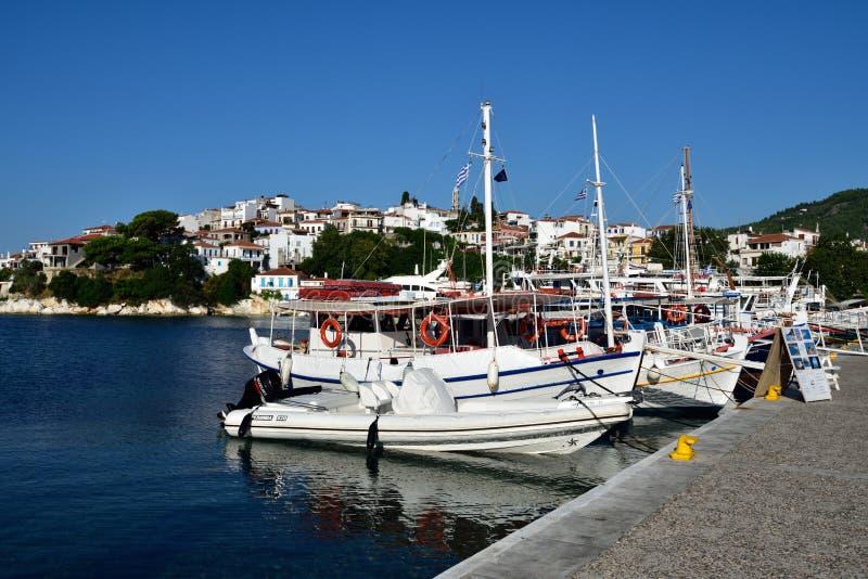 Greece, Skiathos, Skiathos Town royalty free stock photos