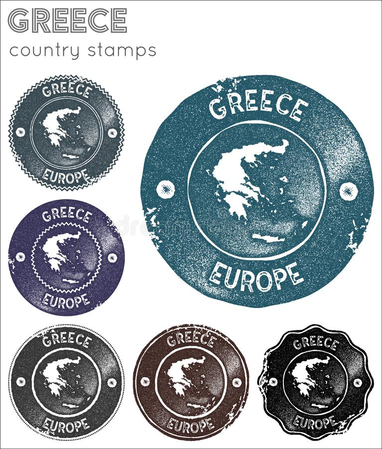Greece stamps collection. royalty free stock photo