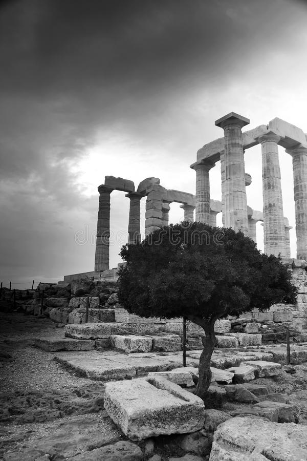 Download Greece, Temple of Poseidon stock image. Image of temple - 17231327