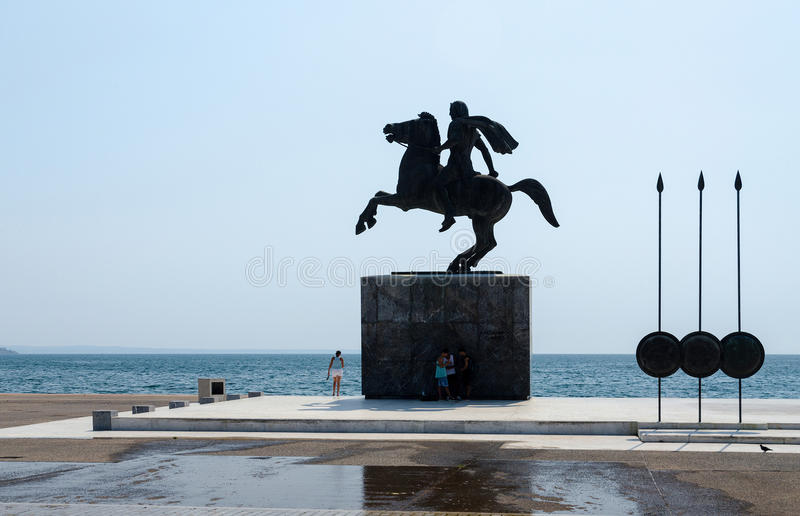 Greece, Thessaloniki. Monument to Alexander the Great stock image